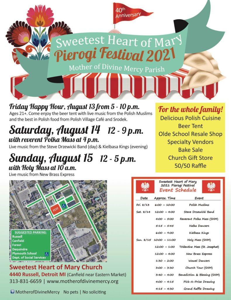 40th Annual Sweetest Heart of Mary Pierogi Festival
